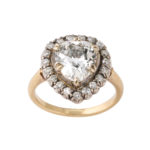 main view, Antique Pear-shaped Diamond Cluster Ring