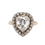 other view, Antique Pear-shaped Diamond Cluster Ring