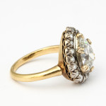 Antique Pear-shaped Diamond Cluster Ring