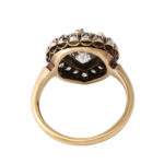 additional view, Antique Pear-shaped Diamond Cluster Ring