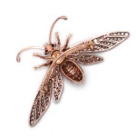 Diamond and Emerald Wasp Brooch by Fontana Back