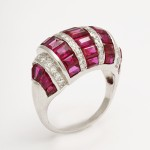 Bombe Ruby and Diamond Ring - side view