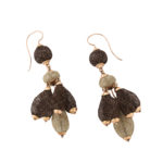 other view, Victorian Hair Pendant Earrings