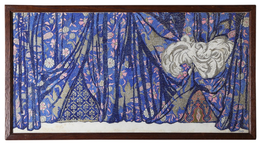 Curtain design for the ballet Istar Leon Bakst
