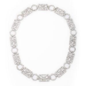 Antique Diamond Necklace/Bracelet Combination
