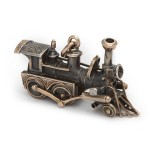 Victorian Gold and Silver Locomotive Charm