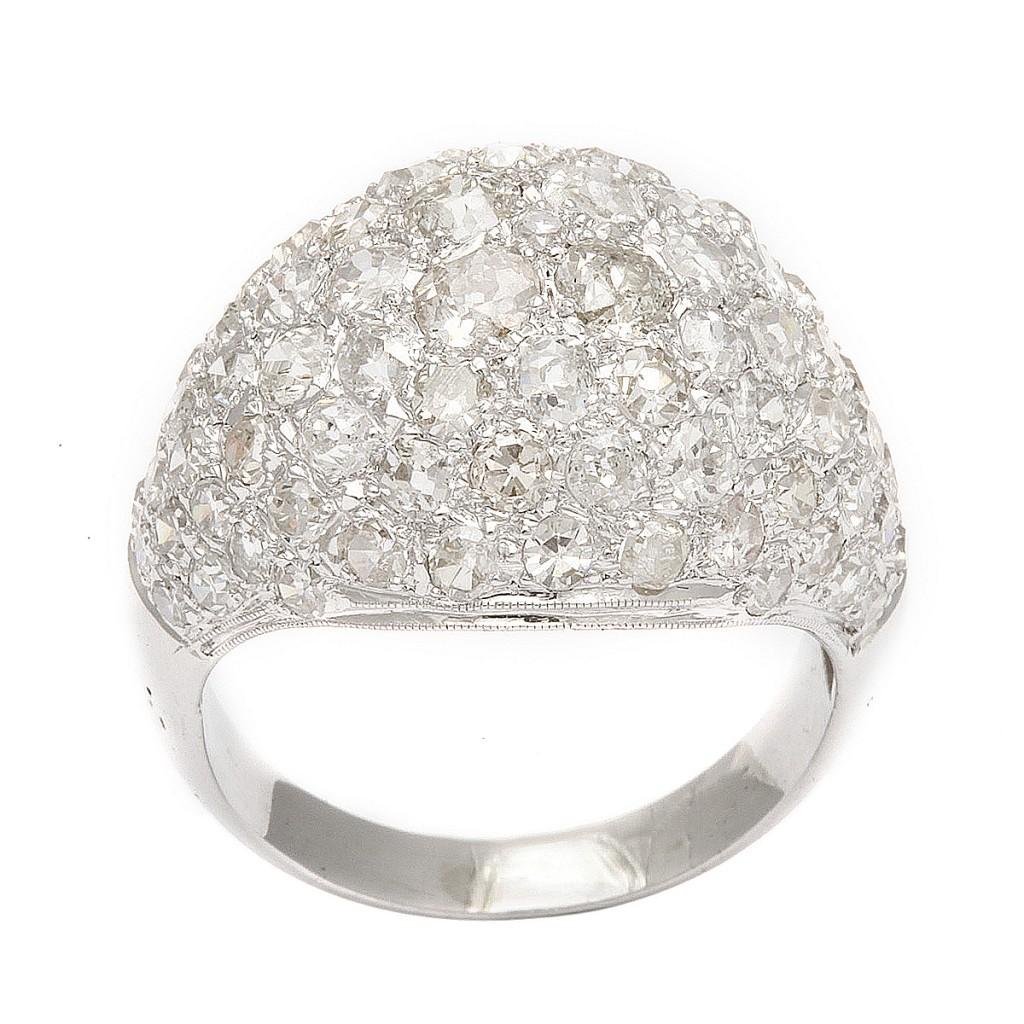 Art Deco Bombé Diamond Ring