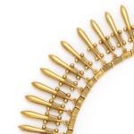 Fontenay Antique Revival Gold Fringe Necklace, detail