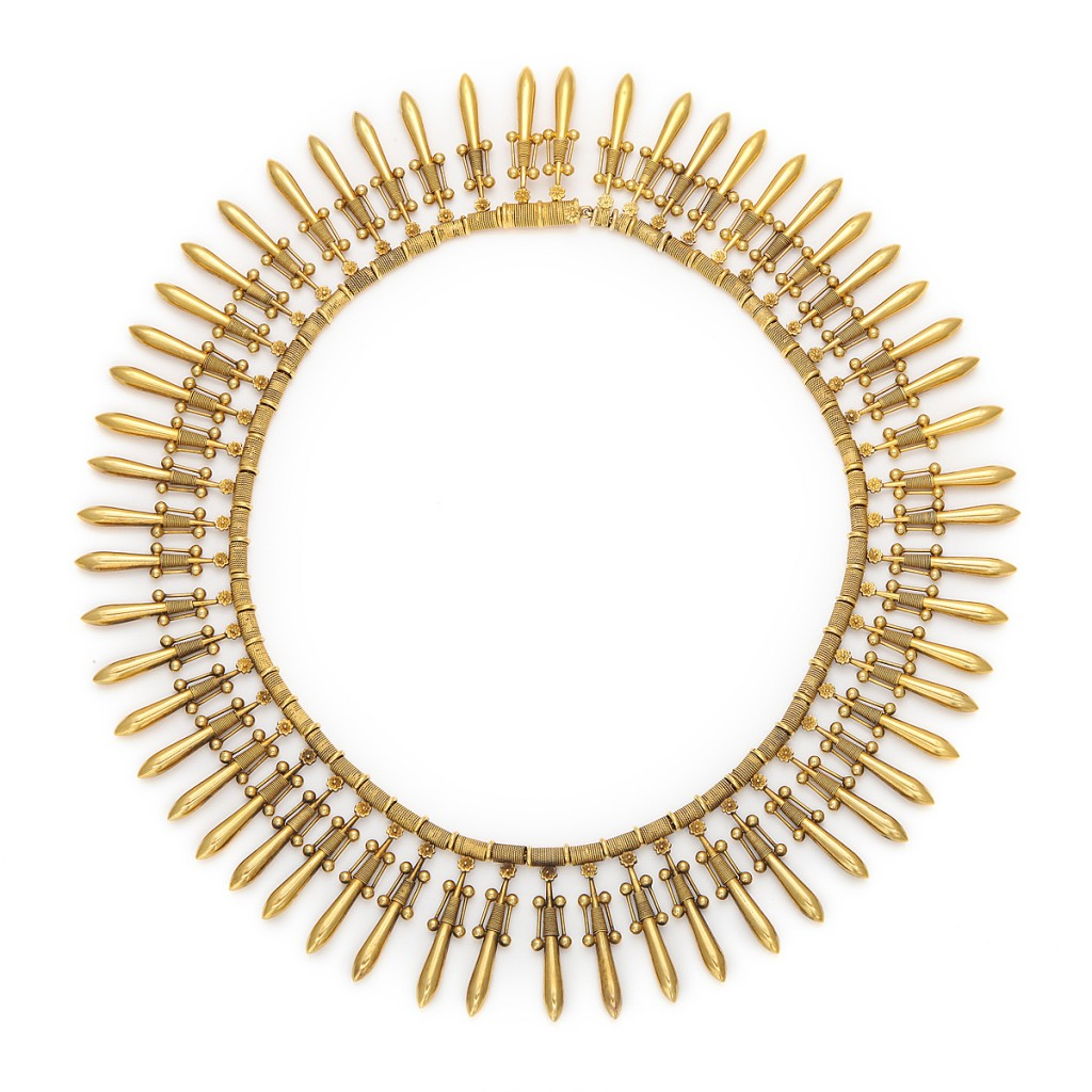 Fontenay Antique Revival Gold Fringe Necklace