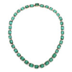 main view, Antique Green Paste Necklace