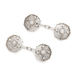 Antique Snowflake Diamond and Platinum cufflinks