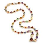 back, Victorian Zircon Necklace