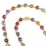 detail, Victorian Zircon Necklace