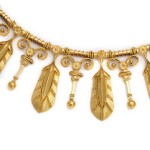 Fontenay Etruscan Revival Fringe Necklace, detail