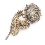 Victorian Diamond 'Rose' Brooch