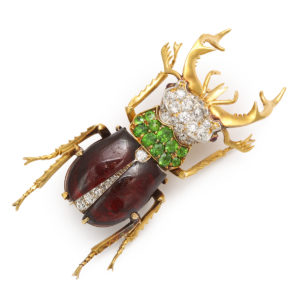 Antique Scarab Brooch