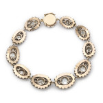 Victorian Old Mine Diamond Bracelet, back