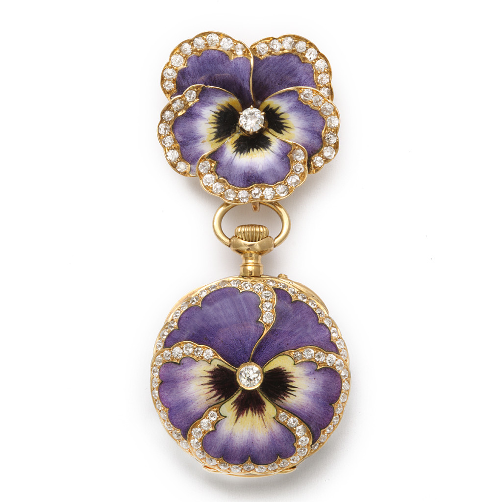 Antique Pansy Brooch and Watch