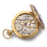 Antique Pansy Brooch and Watch, gears