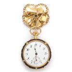 antique pansy watch pendant, watch face