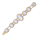 1960s Moonstone and Diamond Bracelet