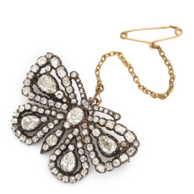 main view, Antique Diamond Butterfly Brooch