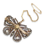 back view, Antique Victorian Diamond Butterfly Brooch