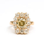 main view, Antique Diamond Cluster Ring