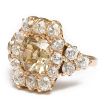 Alternate view, Antique Diamond Cluster Ring