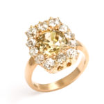 other view, Antique Diamond Cluster Ring