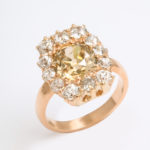 top view, Antique Diamond Cluster Ring