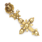 Back view, Antique Gold and Diamond Cross, back