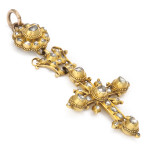 Alternate view, Antique Gold and Diamond Cross, c