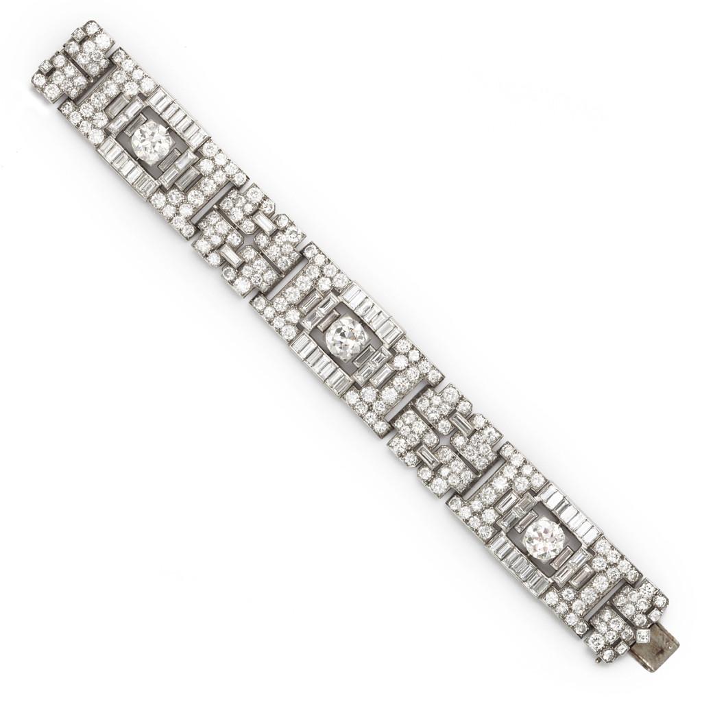 main view, 1920s Diamond Boucheron Bracelet, a