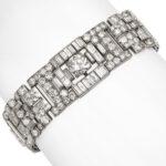 other view, 1920s Boucheron Diamond and Platinum Bracelet