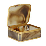 Agate Snuffbox, open