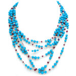 main view, Contemporary Turquoise Bead Necklace