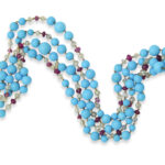 other view, Contemporary Turquoise Bead Necklace
