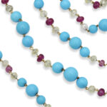 detail view, Contemporary Turquoise Bead Necklace