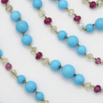 detail, Contemporary Turquoise Bead Necklace