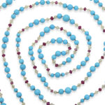 extra view, Contemporary Turquoise Bead Necklace