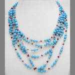 strung shot, Contemporary Turquoise Bead Necklace