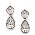 Victorian Paste Pear-Shape Drop Earrings
