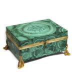 main view, Antique Russian Malachite Box