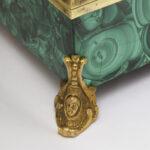 detail view, Antique Russian Malachite Box