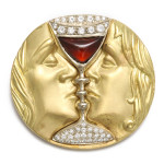 Salvador Dali 'Tristan and Isolde' Brooch