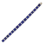 Lapis Lazuli and Diamond Bracelet