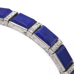 Lapis Lazuli and Diamond Bracelet, b