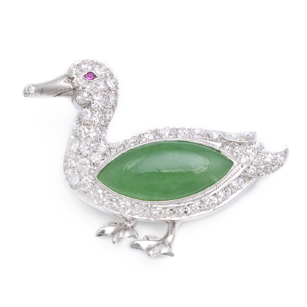 Antique Duck Brooch