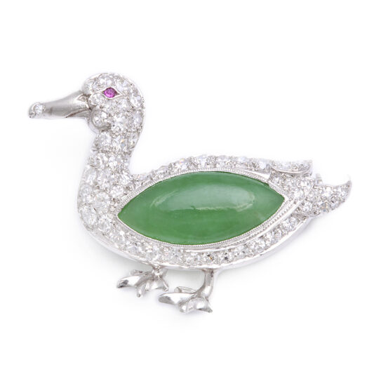 main view, Antique Duck Brooch
